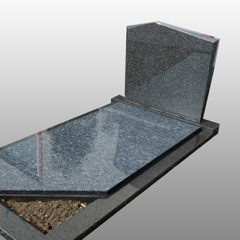 grafsteen schuin plantvak