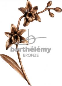 Grafdecoratie orchidee in brons